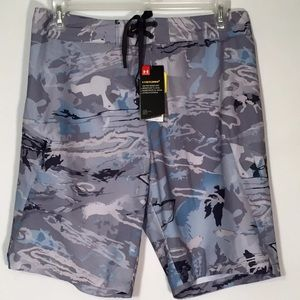 754c1285b9 Under Armour Swim - UA Reblek Camo Print Board Shorts Under Armour